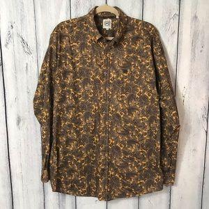 Cinch Men's Shirt Brown paisley Western Rodeo